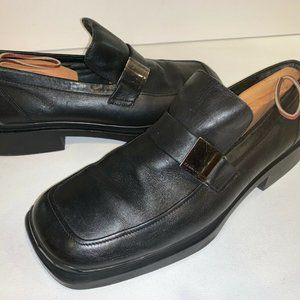 Kenneth Cole Black Leather Made in Italy Men's 11